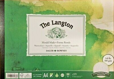 Daler Rowney Langton Cold Pressed NOT Watercolour Paper Pad A4 • 11.99£