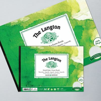 Daler Rowney Langton Cold Pressed NOT Watercolour Paper Pad A5 A4 A3 • 11.95£