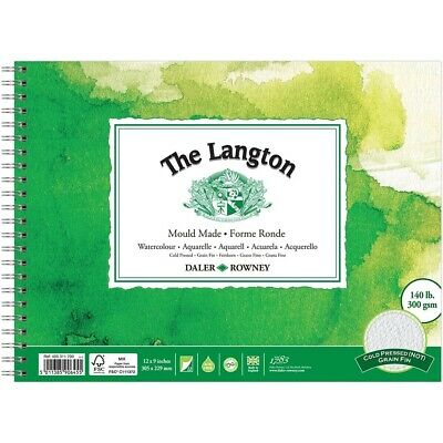 Daler Rowney Langton Cold Pressed NOT Watercolour Paper Spiral Pad  • 10.95£