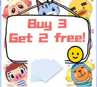 AU2.90 • Buy On Sale ! Buy 3 Get 2 Free Animal Crossing New Horizons Amiibo Cards NFC NTAG215