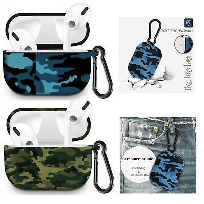 AU13.99 • Buy For Airpods Pro Case Cover Soft Silicone Shockproof Camouflage Designs