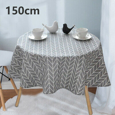 2020 Table Cover Party Tablecloth Round Cotton Covers Cloths Home Kitchen 150cm • 8.19£