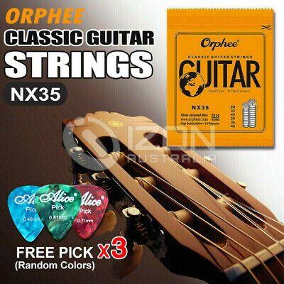 AU6.95 • Buy Nylon Guitar Strings Set Acoustic Classical Orphee Premium Universal 28-45
