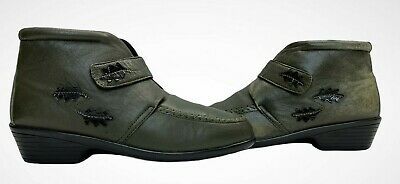 PAVERS Ladies Womens Boots Size UK 6 EU 39 Khaki Green Leather Cushioned Ankle • 14.89£
