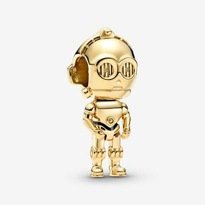 NEW 100% Authentic PANDORA Shine Star Wars C-3PO Charm Pendant 769244C01 • 16.89£