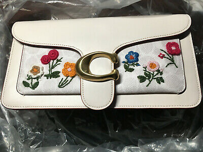 NWT Coach Tabby Bag 26 In Signature Canvas With Floral Embroidery 627 • 239.61£