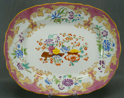 Minton C4913 Hand Colored Chinese Vase Pink 15 3/8 Inch Platter Circa 1891-1902 • 95.84£