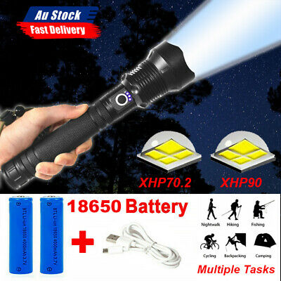 AU25.99 • Buy XHP70.2 /XHP90 Most Powerful 120000LM Tactical 3 Mode Zoom Flashlight LED Torch
