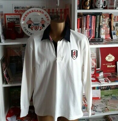 £24.50 • Buy BNWT Fulham Vintage Home Long Sleeved Football Shirt Official Shop Merchandise