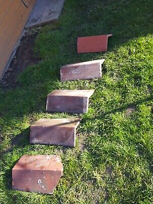 Reclaimed  Angled Ridge Tiles  Clay Roof Tile  • 20£