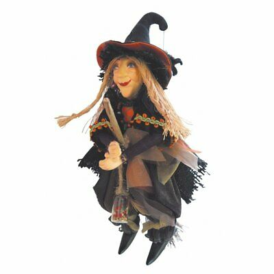 Witches Of Pendle - Alice Nutter Witch Flying (Brown) 24cm FREE P&P • 24.95£