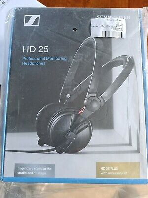 Sennheiser HD25 Plus DJ Headphones + Coiled & Straight Cables, Bag & Spare Pads • 149.99£