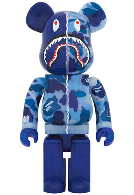 $2399.99 • Buy BE@RBRICK BAPE(R) CLEAR ABC CAMO SHARK Blue Ver. 1000% From JPN [New + Tracking]