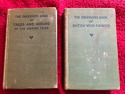 £21.99 • Buy Observer's Book Of British Wild Flowers/Trees And Shrubs HB Frederick Warne 1940