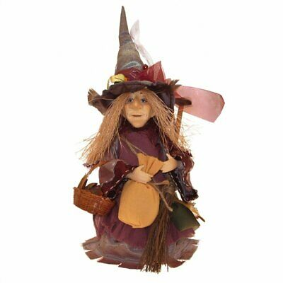Witches Of Pendle - Amelia Witch Standing (Burgundy) 24cm FREE P&P • 24£