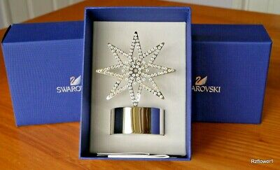 Rare Retired SWAROVSKI Crystal Tea Light SILVER STAR 5030477 BNIB  • 30£