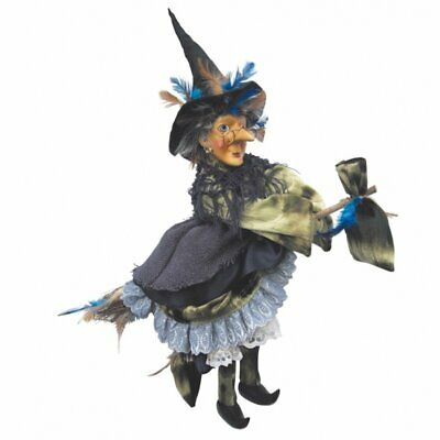 Witches Of Pendle - Rowena Witch Flying (Green) 35cm FREE P&P • 24.95£