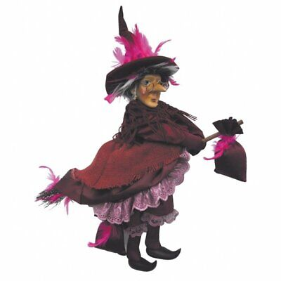 Witches Of Pendle - Rowena Witch Flying (Burgundy) 35cm FREE P&P • 24.95£