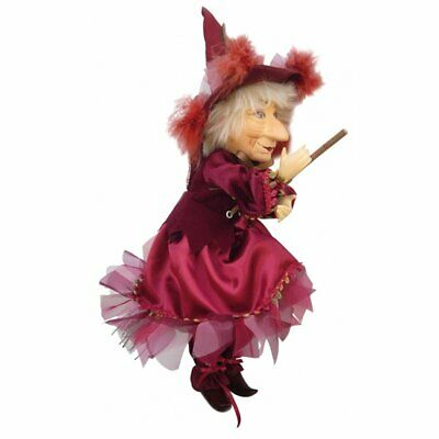 Witches Of Pendle - Phoebe Witch Flying (Red) 30cm FREE P&P • 24.95£
