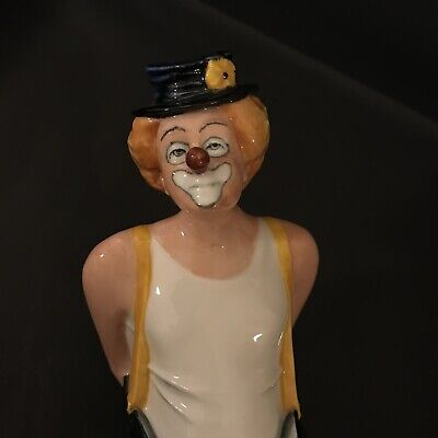 Tip Toe Royal Doulton Clown Standing Flower Hat HN 3293 (1989) • 79.99£