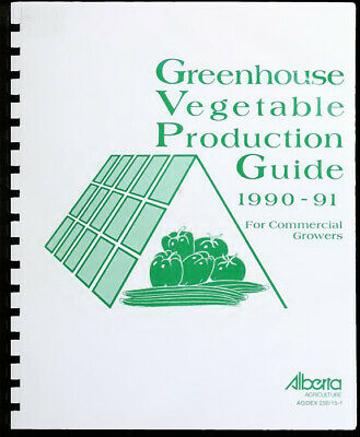 £14.15 • Buy Greenhouse Vegetable Production Guide For Commercial Growers 1990-91 Platic Comb