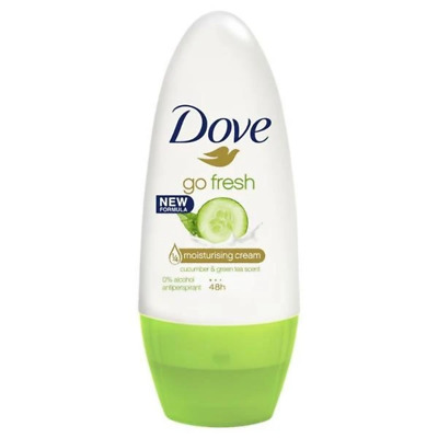 Dove Go Fresh Cucumber Roll-On Antiperspirant Deodorant 50ml • 2.16£