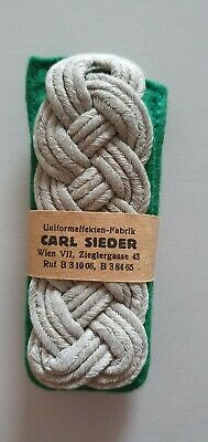 German WW2 Army Shoulder Boards Straps Original Officer Mountain Troops Mint • 145£