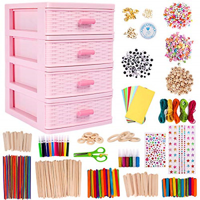 N&T NIETING Art Crafts For Kids With Drawer Container, 1300Pcs Colorful And Arts • 34.72£