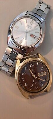$ CDN74.51 • Buy Vintage Men's Seiko Stainless Automatic Watch Lot Of 2 Day/Date Running