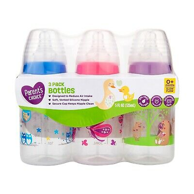 £7.80 • Buy Parent's Choice Baby Bottles Designed To Reduce Air Intake 5 Fl Oz - 3 Count