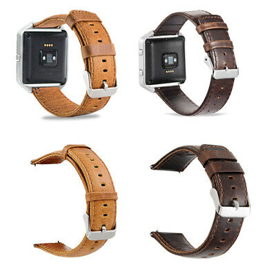 $ CDN17.79 • Buy For Fitbit Blaze Leather Watch Band 23mm Replacement Accessories Strap Wristband