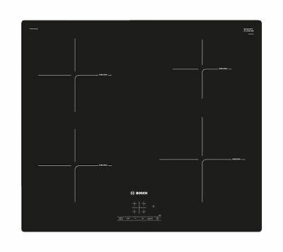 Bosch 60cm Induction Hob | PUE611BF1B | 4 Ring Zones With Touch Control - Black • 318£