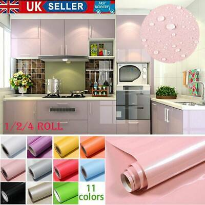1/2/4 Roll Kitchen Cupboard Door Drawer Liner Cover Self Adhesive Wall Sticker Y • 7.55£