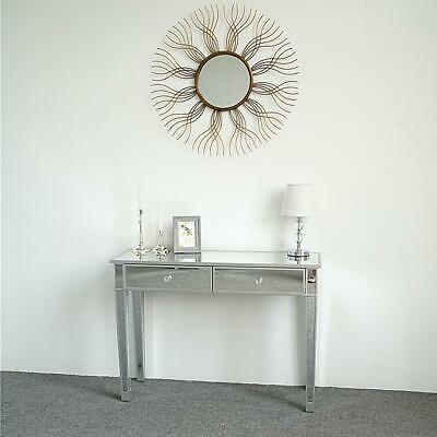 Modern Mirrored Venetian Glass 2 Drawer Dressing Console Table Silver • 125.95£