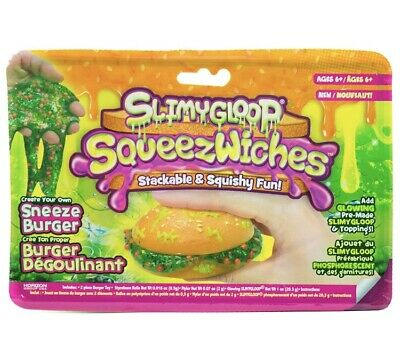 AU13.04 • Buy Squeezwiches Squishy Slime Sneeze Burger And Sandwich - Slime Toy Get Both 2pk