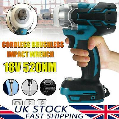 18V 1/2  520Nm Brushless Replace Impact Wrench Body For Makita Battery DTW285Z ! • 24.88£