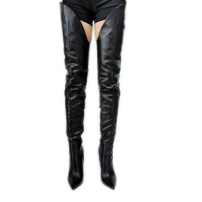 £59.89 • Buy Women High Heel Over Knee Thigh High Boots Pointed Toe Sexy Nightclub Big Size T