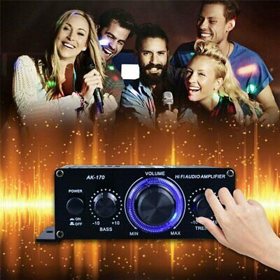400W Power Digital Amplifier HIFI Mini Stereo Audio AMP USB FM Mic Home Car • 10.76£