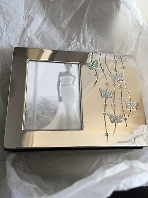 Silver Butterfly Embelished Special Occasion/Wedding Photo Album • 10£