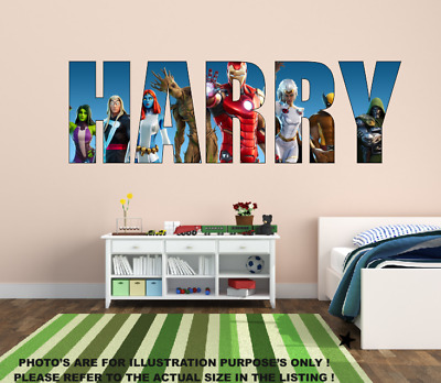 Personalised Name Fortnite Style Stickers Decal Vinyl Wall Art Gaming - Any Name • 15.99£