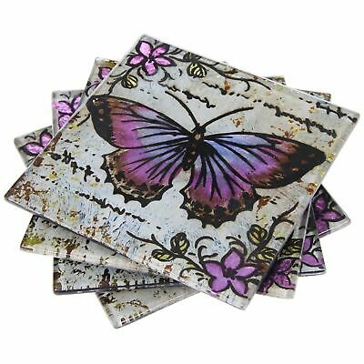 £9.79 • Buy Lavender Butterfly 4 Coasters Tableware Home Decor Homewares Gift Novelty
