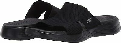 Skechers Women's Shoes On The Go 600 Oceanside Fabric Open Toe, Black, Size 10.0 • 21.99£