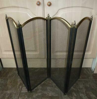 FOLDING FIRE SCREEN SPARK GUARD. Pick-up Only. 2 Coal Scuttles Listed Separately • 14.99£