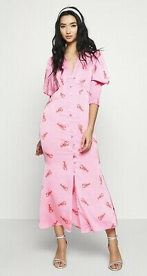 AU90.28 • Buy NEVER FULLY DRESSED Pink Lobster Dress Size 18