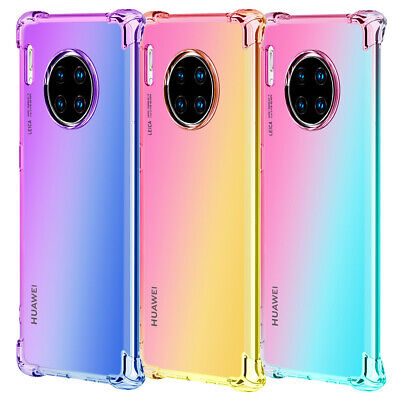 Phone Case For Huawei P30 P20 P Smart 2019 Gradient Color Slim Shockproof Cover • 3.56£