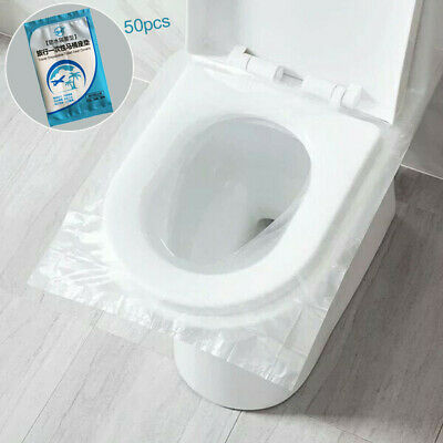 £5.62 • Buy 50PCS Toilet Seat Covers Paper Travel Flushable Hygienic Disposable Waterproof