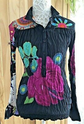 Desigual Bold Design Crinkle Blouse/ Top In Size Small • 2.49£