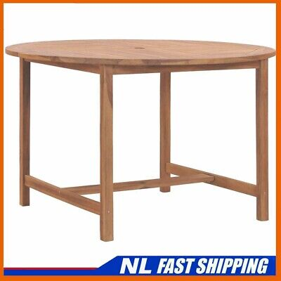 Best! Solid Teak Wood Garden Table 120cm Kitchen Dining Room Picnic Table • 137.99£