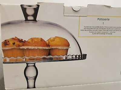 Cake Stands Flat Tier Boxed Glass • 25£