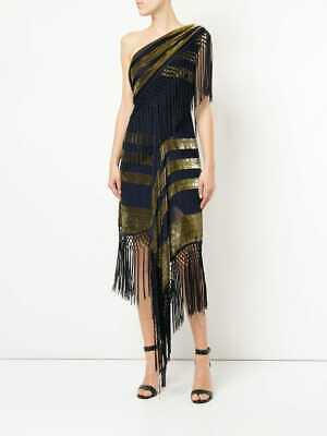 AU85 • Buy Alice McCall 'For Her' Dress. BNWT. RRP$490 Blue/Gold. Size AU/UK 4 US0.